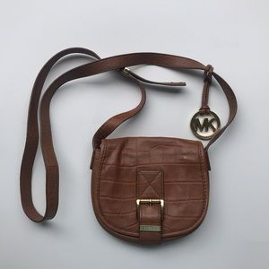 Michael Kors light brown crossbody bag